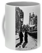 Two Nuns- Black And White - Novodevichy Convent - Russia Coffee Mug