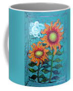 Two Orange Sunflowers Coffee Mug