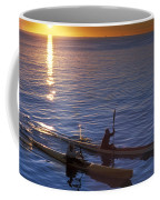 Two Paddlers In Sea Kayaks At Sunrise Coffee Mug
