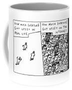 Two Panels: How Much Everyone Got Upset In Real Coffee Mug