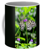 Two Paper Kite Or Rice Paper Or Large Tree Nymph Butterfly Also Known As Idea Leuconoe Coffee Mug