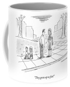 Two Parents Talk About Their Children Coffee Mug