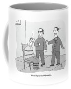 Two People Interrogate A Suspect Coffee Mug