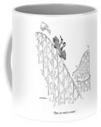 Two People Ride A Roller Coaster Coffee Mug