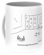 Two People Sitting In An Empty Room Coffee Mug by Mick Stevens