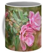 Two Pink Roses I  Blank Greeting Card Coffee Mug
