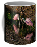 Two Pink Spoonbills Coffee Mug