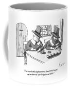 Two Puritan Men Sit At A Bar Together Coffee Mug