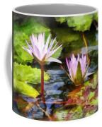 Two Purple Water Lotus Coffee Mug