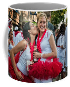 Two Red Tutus At Running Of The Bulls Coffee Mug