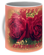 Two Roses. Happy Anniversary Coffee Mug