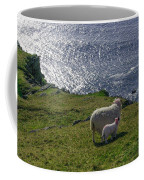 Two Sheep On The Cliffs At Sleive League - Donegal Ireland Coffee Mug