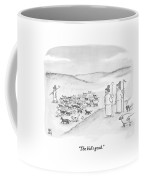 Two Shepherds With Conventional Sheep Look Coffee Mug by Paul Noth