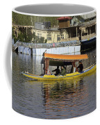 Two Shikaras Next To Each Other In The Dal Lake Coffee Mug