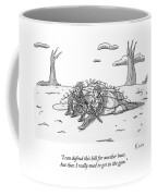 Two Soldiers Talk While Hidden Behind A Bunker Coffee Mug