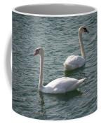 Two Swans A Swimming Coffee Mug