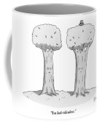Two Trees With Faces Are Seen Next To Each Other Coffee Mug