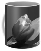Two Tulips In Black And White Coffee Mug