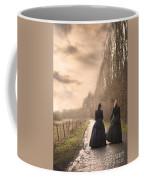 Two Victorian Ladies Walking On A Cobbled Path Coffee Mug