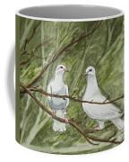 Two White Doves Coffee Mug