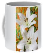 Two White Lilies Coffee Mug