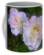 Two White Roses Border Coffee Mug
