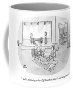 Two Women Chat In A Living Room Coffee Mug