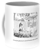 Two Women Speak At A Cafe Speak Coffee Mug by Trevor Spaulding