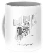 Two Women Speak In A Restaurant Coffee Mug