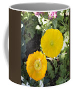 Two Yellow Flowers Coffee Mug