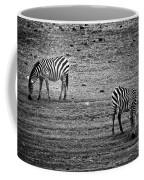 Two Zebras Eating. Tanzania Coffee Mug