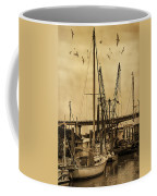 Tybee Island Shrimp Boats Coffee Mug