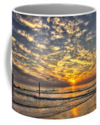 Calm Seas And A Tybee Island Sunrise Coffee Mug