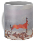 Tying A Sari, India, 2012 Acrylic On Canvas Coffee Mug