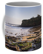 Tynemouth Priory And Castle Across King Edwards Bay Coffee Mug