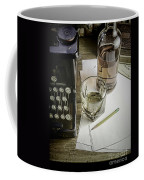 Typewriter And Whiskey Coffee Mug
