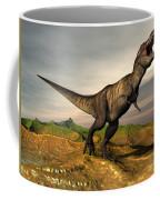 Tyrannosaurus Rex Dinosaur Walking Coffee Mug