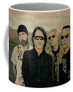 U2 Silver And Gold Coffee Mug