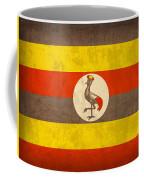 Uganda Flag Vintage Distressed Finish Coffee Mug