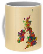Uk Watercolor Map Coffee Mug