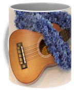 Ukulele And Blue Ribbon Lei Coffee Mug