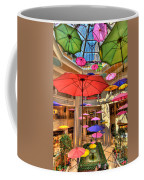 Umbrellas At Palazzo Shops Coffee Mug by Amy Cicconi