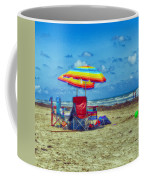 Umbrellas At The Beach Coffee Mug