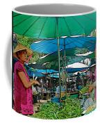 Umbrellas In The Marketplace In Tachilek-burma Coffee Mug