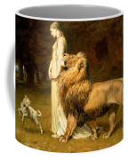 Una And Lion From Spensers Faerie Queene Coffee Mug by Briton Riviere