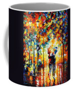 Under One Umbrella - Palette Knife Figures Oil Painting On Canvas By Leonid Afremov Coffee Mug
