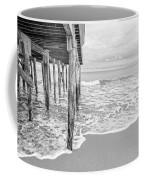 Under The Boardwalk Black And White Coffee Mug