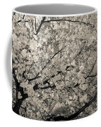 Under The Cherry Tree - Bw Coffee Mug by Hannes Cmarits