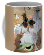 Under The Parasol Coffee Mug by Joaquin Sorolla y Bastida