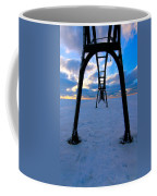 Under The Pier In St. Joseph At Sunset Coffee Mug
